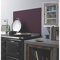 Impact Glass Aubergine Self-Adhesive Toughened Glass Splashback 900 x 750 x 6mm