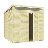 Rowlinson  8' x 8' (Nominal) Pent Tongue & Groove Timber Shed