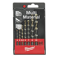 Milwaukee Straight Shank Multi-Purpose Drill Bit Set 7 Pcs