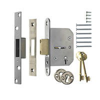 ERA 5 Lever Chrome 5-Lever Mortice Deadlock 64mm Case - 44mm Backset