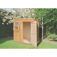 Shire 6' x 4' (Nominal) Pent Shiplap T&G Timber Shed Honey Brown