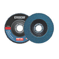 Erbauer Zirconium Flap Discs 115mm 4 Piece Set