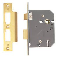 Yale 5 Lever Polished Brass 5-Lever Mortice Sashlock 76mm Case - 57mm Backset