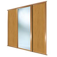 Spacepro Shaker 3 Door Sliding Wardrobe Door Kit Oak / Mirror 2136 x 2260mm