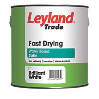 Leyland Trade Fast Drying Paint Brilliant White 2.5Ltr