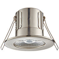 LAP CosmosEco Fixed  Fire Rated LED Downlight Satin Nickel 500lm 5.5W 220-240V