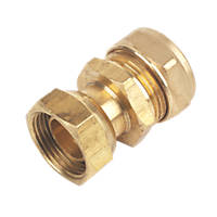 Compression Straight Tap Connector 22mm x ¾""