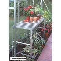 Halls Greenhouse 1-Tier Staging Aluminium 520 x 1200 x 760mm
