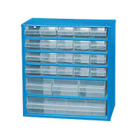 24-Drawer Metal Storage Unit