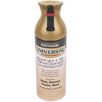 Rust-oleum Universal Spray Paint Gloss Metallic Gold 400ml