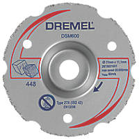 "Dremel DSM600 Wood/Plastic Compact Saw Cutting Wheel 3"" (77mm) x 11 x 11.1mm"