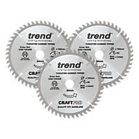 Trend TCT Circular Saw Blades 165 x 20mm 48, 48 & 48T 3 Pack
