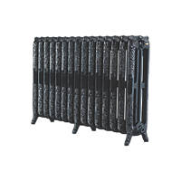 Arroll  3-Column Cast Iron Radiator 760 x 1234mm Black 7370BTU