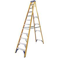 Werner Fibreglass 12-Treads Swingback Stepladder 2.34m