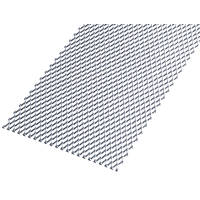 Rothley Perforated Mesh Protective Door Plate Steel 250 x 500mm