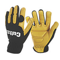Cutter CW700 Vibration Reducing Glove Black / Yellow Large