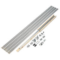 Henderson Pocket Door PDK4 1-Door Sliding Track System Silver 1601mm