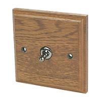 Varilight  10AX 1-Gang 2-Way Toggle Switch  Medium Oak