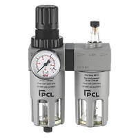 "PCL ATCFRL12 ½"" BSP Air Tool Filter Regulator & Lubricator"