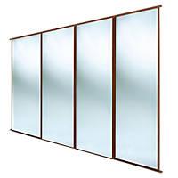 Spacepro Classic 4 Door Sliding Wardrobe Door Kit Mirror 2978 x 2260mm