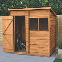 Forest  6' x 4' (Nominal) Pent Overlap Timber Shed with Assembly