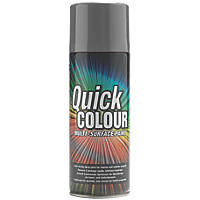 Quick Colour Spray Paint Gloss Grey 400ml