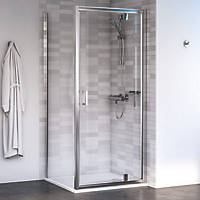 Aqualux Edge 6 Square Shower Enclosure LH/RH Polished Silver 900 x 900 x 1900mm