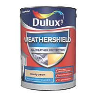 Dulux Weathershield Textured Masonry Paint County Cream 5Ltr