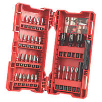 "Milwaukee Shockwave Impact Duty ¼"" Straight Shank Mixed Screwdriver Bit Set 32 Pieces"