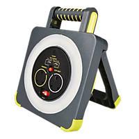 Masterplug 13A 2-Gang 5m  LED Work Light Cable Reel & USB Charger 240V