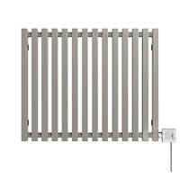 Terma Triga E Wall-Mounted Oil-Filled Radiator Grey / Silver 600W 680 x 560mm