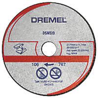 "Dremel DSM510 Metal/Plastic Compact Saw Cutting Wheel 3"" (77mm) x 2 x 11.1mm 3 Pack"