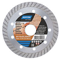 Norton  Multi-Material Diamond Cutting Disc 115 x 22.23mm