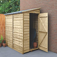 """Forest  3' 6"""" x 6' (Nominal) Pent Overlap Timber Shed with Assembly"""