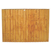 Forest  Feather Edge  Fence Panels 6 x 3' Pack of 4
