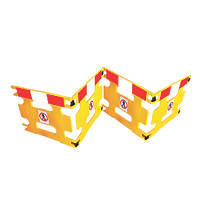 Addgards Handigard 4-Panel Barrier Yellow w/Red & White Stripe