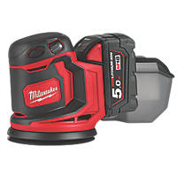 Milwaukee M18 BOS125-502B 125mm 18V 5.0Ah Li-Ion RedLithium  Cordless Random Orbit Sander