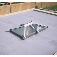 ATT Fabrications Ltd Clear Glass Roof Lantern White 1500 x 1000mm