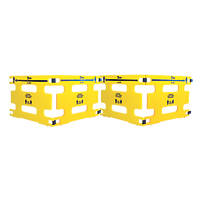 Addgards Keep Your Distance Safety Barriers Yellow / Black 4 Pack
