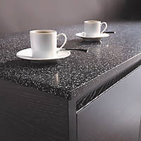 Metis Black Breakfast Bar 2440 x 900 x 15mm