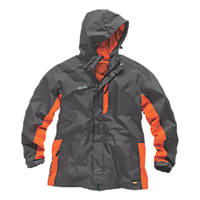 "Scruffs Worker Jacket Graphite/Orange Small 40"" Chest"