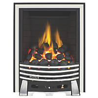 Focal Point Elysee Chrome Rotary Control Inset Gas Full Depth Fire