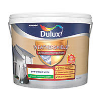 Dulux Weathershield Ultimate Protection Smooth Masonry Paint Pure Brilliant White 10Ltr