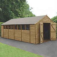 "Forest  10' x 19' 6"" (Nominal) Apex Overlap Timber Shed with Assembly"