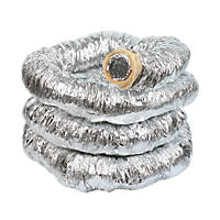 Manrose Aluminium Insulated Flexible Ducting Hose Silver 10m x 102mm