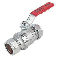 Pegler PB300 Lever Ball Valve Red 28mm