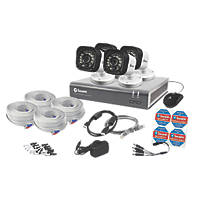 Swann SWDVK-816004-UK 8-Channel Security System & 4 Cameras 5 Pcs