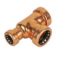 Tectite Sprint  Copper Push-Fit Reducing Tee 22 x 15 x 22mm