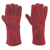 Keep Safe  Welding Gauntlet  Red Large
