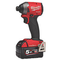 Milwaukee M18 ONEID2-502X FUEL 18V 5.0Ah Li-Ion RedLithium Brushless Cordless ONE-KEY Impact Driver